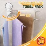 Traceless Multi-Rod Towel Rack