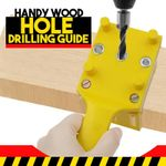 Handy Wood Hole Drilling Guide