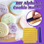 Instant DIY Alphabet Cookie Molder