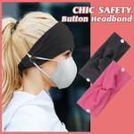Chic Safety Button Headband
