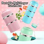 Portable Multi-Layer Lunch Box