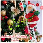 Adorable Climbing Santa