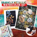 Sparkly Metallic Watercolor Set