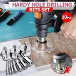 Hardy Hole Drilling Bits Set