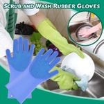 Scrub and Wash Rubber Gloves