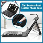 2in1 Keyboard and Leather Phone Case