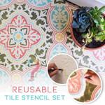 Reusable Tile Stencil Set Of 4