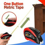 One Button Metric Tape