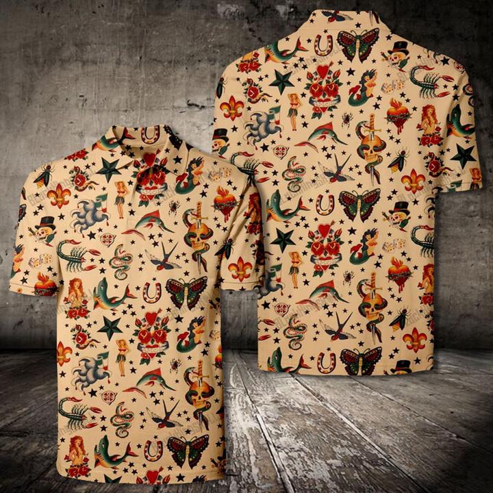 LK0505 Old School Tattoo 90s Combo 3D Shirts