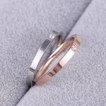 Concise Zircon stainless steel material Ring