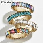 Boho Rainbow Cz Stone Stacking Ring