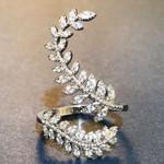 Fashion Leaf Opening Ring