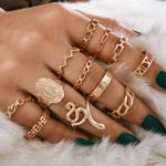 13pcs/set Snake Heart Knuckle Midi Ring Set
