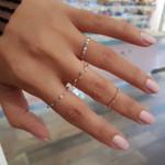 4 Pcs/ Set Fashion Wave Colorful Round Simple Ring Set