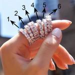Cubic Zirconia Promise Rings  6 Styles