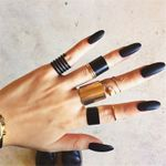 3pcs/set Gothic Black Opening Rings