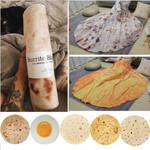 Soft Warm Flannel Burrito Blankets Round Shape throw blankets
