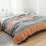 Cotton Blanket Bed Sofa Travel Breathable Bohemia