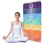 Multi Rainbow Mandala Wall Hanging Blanket