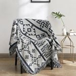 Cotton Blankets Chair Sofa Bed Knitted Geometric Printed