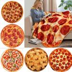 Flannel Pizza blanket 200Gsm Round Shape