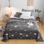 Starry sky bedspread blanket Soft Flannel