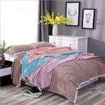 Cotton Muslin Blanket 4 Layers Bed Cover Blankets