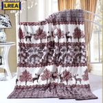 Forest fawn printing coral fleece blanket