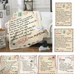 Fleece Blanket Letter Printed Quilts