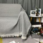 Sofa Knitted Blanket Simple Style Cotton Thread