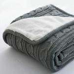 Cotton quality velvet Knitted wool blanket