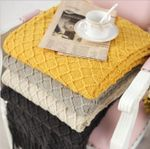Knitted Throw Travel Blanket Sofa