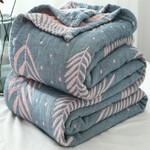 Cotton Blanket Bed Sofa Travel Breathable Chic Mandala Style