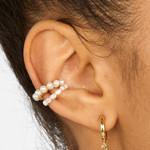Pearl Ear Cuff Earring Bohemian Circle Small Clip On Earring