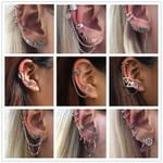 Vintage Silver Color Geometric Stud Earrings Set