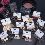 Women's Earrings Set Pearl Crystal Earrings