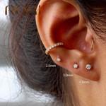 Mini Four-claw Zircon Crystal Stud Earrings