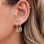 1PC 26 English Letters Zircon Ear Piercing Earring