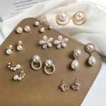Design Stud Earrings Metal Geometric Circle Teardrop