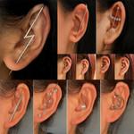 New Ear Needle Wrap Crawler Hook Earrings