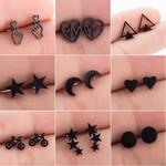 Stainless Steel Earrings Geometric Stud Earring Fashion