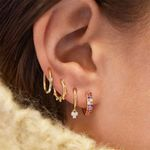 5 Pair/set Female Rhinestone Earrings Set