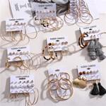 Oversize Hoop Earrings Set Round Circle