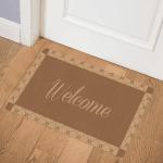 Brown Welcome at Door Mat