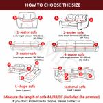 thick sofa protector Jacquard solid printed sofa covers
