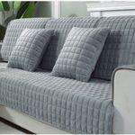 Thicken Crystal Velvet Fabric Sofa Cover Slip Resistant Slipcover