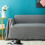 Fashion Sofa Towel Throw Blanket Solid Color Knitting Sofa Covers