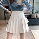 Skirt Fashion High Waist Pleated Skirt Sweet Cute