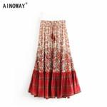 fashion tassel beach Bohemian skirt High Elastic Waist