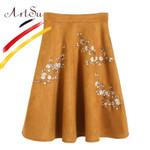 Vintage Ethnic Pleated Midi Skirts